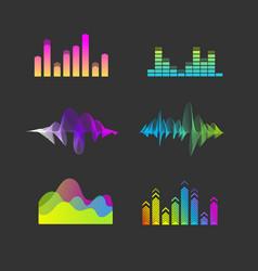 sound waves equalizer set vector image