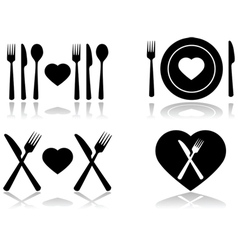 Dinner date vector image vector image