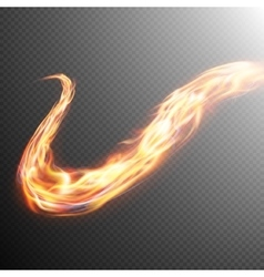 Fire flame frame template EPS 10 vector image
