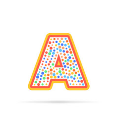 letter a with dots and stroke logo design vector image vector image