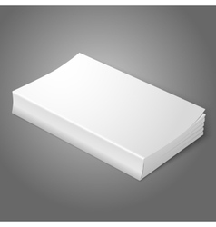 Realistic white blank softcover book Isolated on vector image vector image