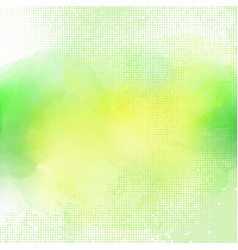 watercolour background with halftone dots vector image vector image