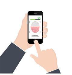 fingerprint identification or authentication on vector image