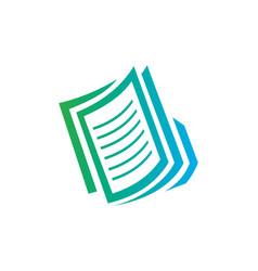 paper file business logo vector image