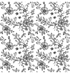 seamless pattern with flowers and leaves vector image