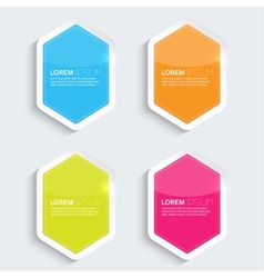 Set of multicolored glowing plastic banners vector image vector image