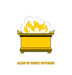 A 2altar burnt offering in tabernacle vector