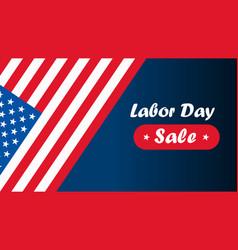 american labor day labor day card design sale vector image