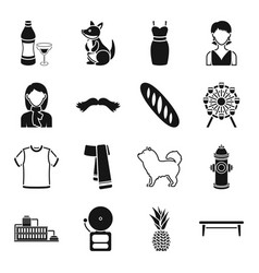Animal clothing food and other web icon in black vector