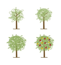 Art tree green for your design vector