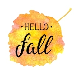 Autumn banner with textured brush lettering vector image