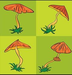 autumn seasonal cartoon mushroom vector image
