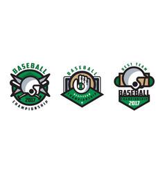 Baseball best team logo design set tournament vector