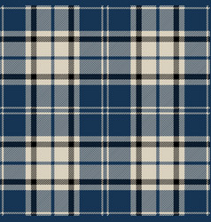 blue and black tartan plaid seamless pattern vector image
