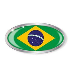 Brazil flag oval button vector