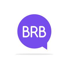 brb icon talk speech bubble vector image