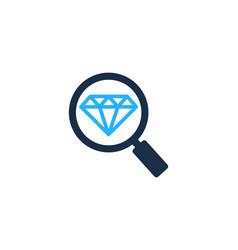 Browse diamond logo icon design vector