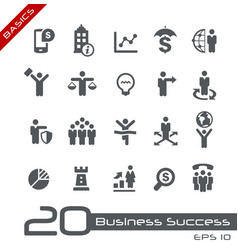 business succsess icons - basics vector image