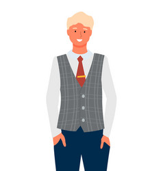 Businessman portrait full length isolated vector