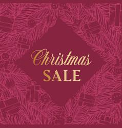 christmas sale discount hand drawn rhombus sketch vector image