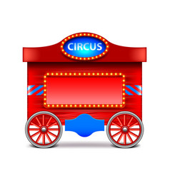 Circus wagon isolated on white vector
