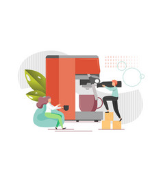 coffee shop flat style design vector image