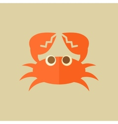 Crab Food Flat Icon vector image
