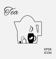 Cup of hot tea icon vector