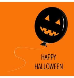 Cute cartoon funny black balloon pumpkin with vector
