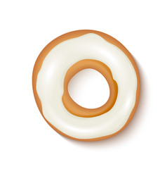 Donut with white icing vector