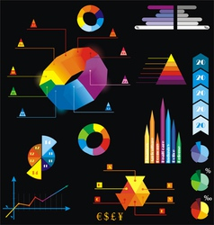 elements of statistics vector image