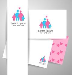 Family love logo template vector