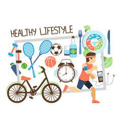 flat active lifestyle composition vector image