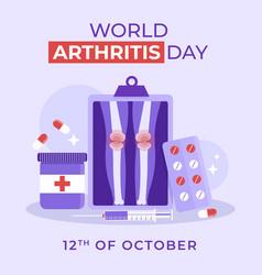 Flat world arthritis day vector