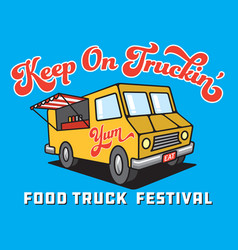 food truck cartoon vector image