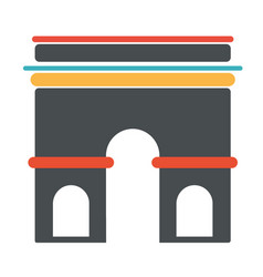 French architecture symbol triumph arch vector