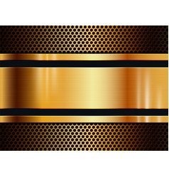 Gold metal texture background with light effect vector