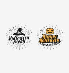 hand drawn halloween lettering symbol holiday vector image