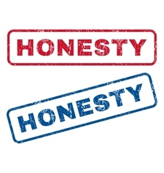 Honesty Rubber Stamps vector