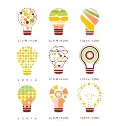 Idea Bulb Different Geometric Abstract Design vector