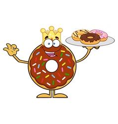 King Donut Cartoon vector