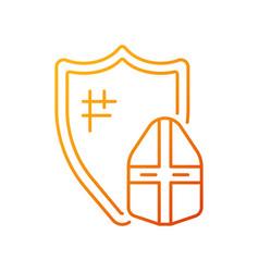 knight armor gradient linear icon vector image