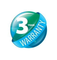 logo 3 years warranty vector image