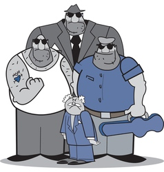 Mafia group vector image
