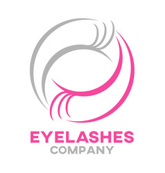 modern eyelashes logo vector image