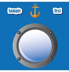 nautical design vector image
