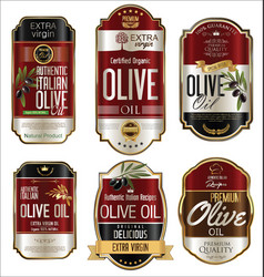 Olive oil retro vintage golden background vector