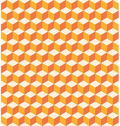 Orange cubes seamless texture vector