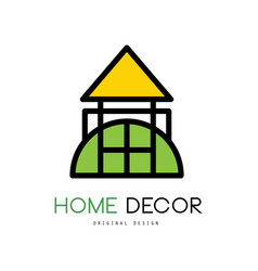 original emblem for shop with things for house vector image