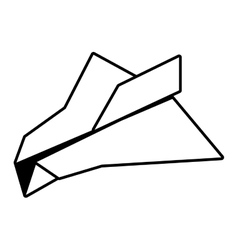 Paper plane freedom play outline vector